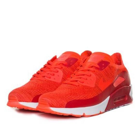 Nike Air Max 90 Ultra 2.0 Flyknit Mens Bright Crimson